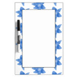 Blue and White Floral Pattern. Dry-Erase Boards