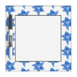 Blue and White Floral Pattern. Dry-Erase Whiteboards
