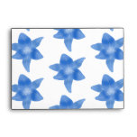 Blue and White Floral Pattern. Envelopes