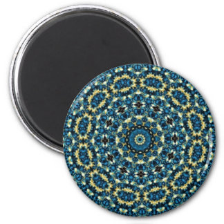Blue And White Floral Pattern Fridge Magnets