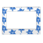 Blue and White Floral Pattern. Magnetic Photo Frames