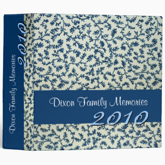 Blue and White Floral Photo Memory Binder