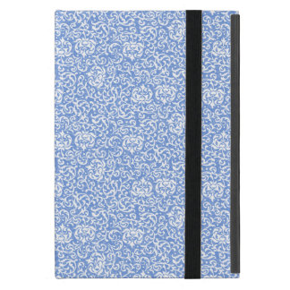 Blue and White Floral Tudor Damask Vintage Style Cover For iPad Mini