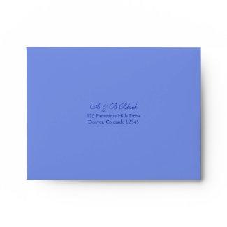 Blue and White Floral Wedding A-2 Envelopes envelope