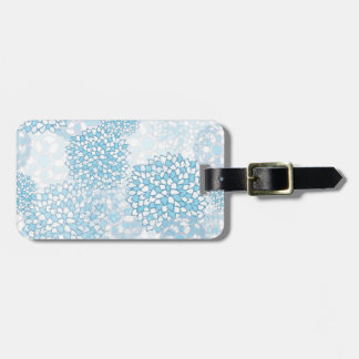 Blue and White Flower Pattern Bag Tag