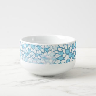 Blue and White Flower Pattern Soup Mug