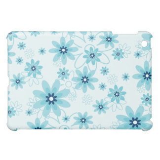 Blue and White Flower Pern  iPad Mini Cases