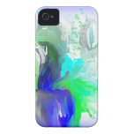 Blue and White Flowers iPhone 4 Cases