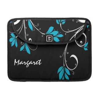 Blue and White Flowers MacBook Pro Sleeve