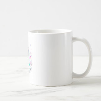 Blue and white Folk Ornaments Coffee Mug