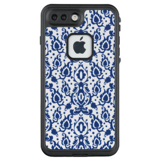 Blue and White Fresh Moroccan Summer Casbah Damask LifeProof FRĒ iPhone 7 Plus Case