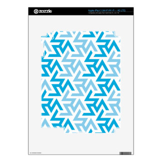 Blue and White Geometric Pattern iPad 3 Decals