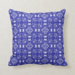 Blue And White Geometric Pillows