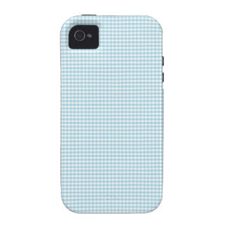 Blue And White Gingham Check Pattern iPhone 4 Cover