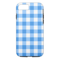 Blue And White Gingham Check Pattern iPhone 8/7 Case