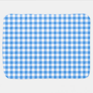 35b40bf9709 Blue And White Gingham Check Pattern Receiving Blanket
