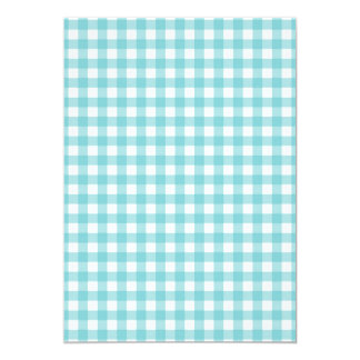 Blue and White Gingham Design Card