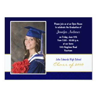 Blue and White Graduation Party Invitation