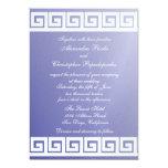 "Blue and White Greek Key 5"" X 7"" Invitation Card"