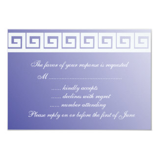 Blue and White Greek Key  RSVP Cards