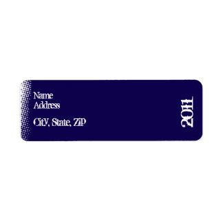 Blue and White Grunge Graduation Return Address Label