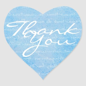 Professional Business Blue and White Heart Thank You Envelope Seal
