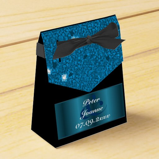 Blue Lightning Favor Boxes : Blue and white hearts wedding favor box zazzle