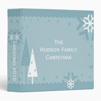 Blue and White Holiday Photo Album Vinyl Binders