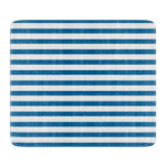 Blue and White Horizontal Stripe Cutting Board