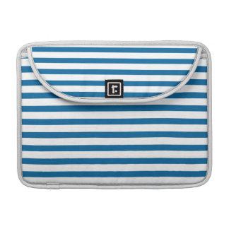 Blue and White Horizontal Stripe Sleeve For MacBooks
