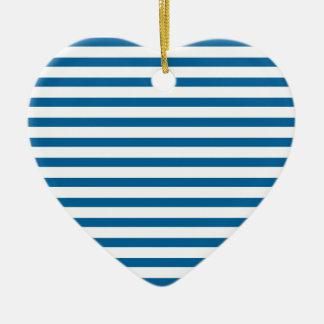 Blue and White Horizontal Stripe Ornament