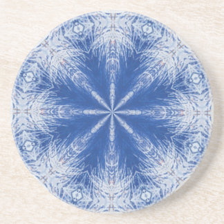 Blue and White Ice Crystal Coaster