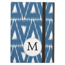 blue and white Ikat triangles iPad Air Case