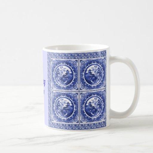 Blue and white, I'm feeling blue! Coffee Mug