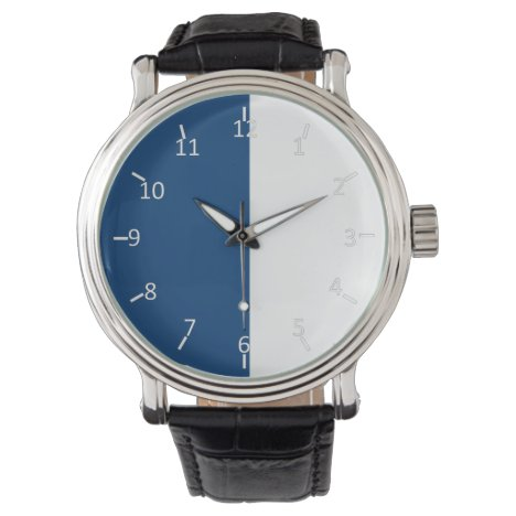 Blue and White Ivy Watch