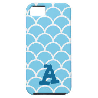 Blue and White Japanese Aquatic Pattern Phone Case