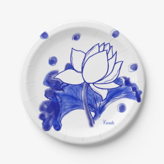 blue and white Japanese traditional plate