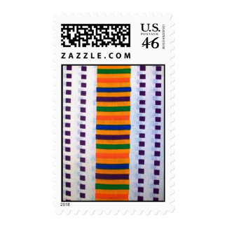 Blue and white kente print stamp