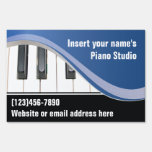 Blue and White Keyboard Teacher Yard Sign