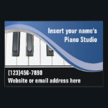 """Blue and White Keyboard Teacher Yard Sign<br><div class=""""desc"""">Classy blue and white yard sign features keyboard and customizable text.  Prominent keyboard will let passersby know that you teach piano or other keyboard instruments.</div>"""