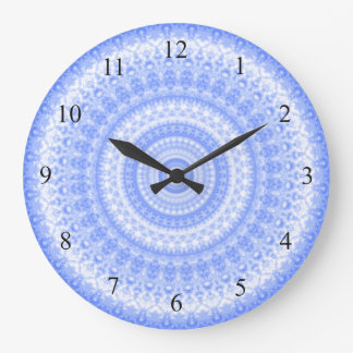 Blue and White Kitchen Wall Clock