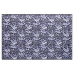 Blue and White Koi Fish Indigo Intricate Fabric
