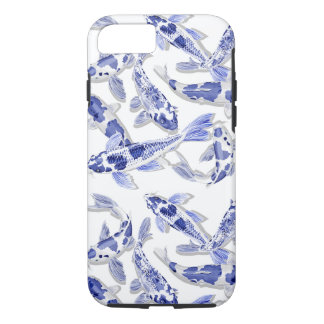 Blue and white Koi iPhone 8/7 Case