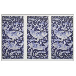 Blue and White Koi Pond Tile Design Fabric Panels