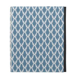 Blue and White Lattice iPad Case