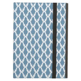 Blue and White Lattice iPad Cover
