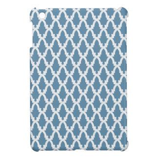 Blue and White Lattice Case For The iPad Mini