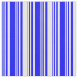[ Thumbnail: Blue and White Lines Fabric ]