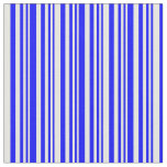 [ Thumbnail: Blue and White Lines Pattern Fabric ]