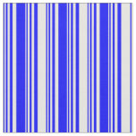 [ Thumbnail: Blue and White Lines/Stripes Pattern Fabric ]